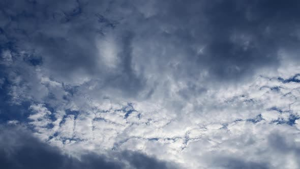 Photography Daytime Sky With Fluffy Clouds Video Loop