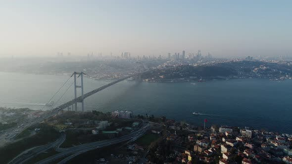 Thumbnail for Istanbul Bosphorus And Bridge Aerial View