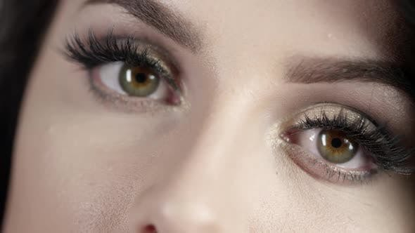 Thumbnail for Up close view of woman's eyes
