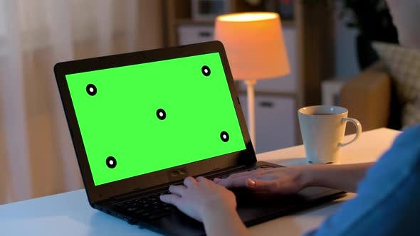 Thumbnail for Hands Typing on Laptop with Green Screen at Home 9