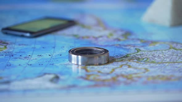 Thumbnail for Man Studying Africa Continent on Map, Choosing Travel Destination for Vacation
