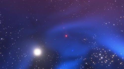 Space Flight Nebula in Space