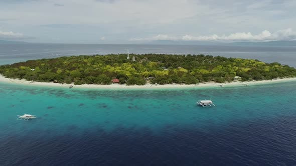 Thumbnail for Aerial view of Balicasag Island, Philippines.