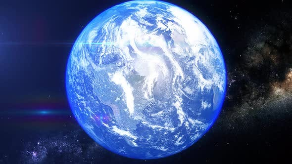 Realistic Earth Zoom North Pacific Ocean