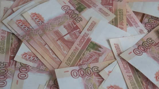 Thumbnail for Russian Money Roubles Banknotes, Heap of Russian Rubles