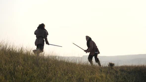 Thumbnail for Brave medieval men fighting