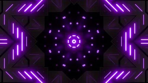4k Purple Neon Pattern Loops Pack