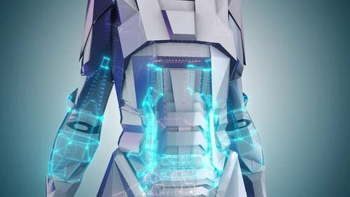 Sci Fi Humanoid Android Robot Woman Body Part Hd
