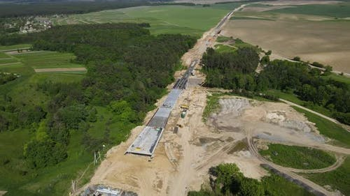 There Are Cargo Works On Construction Of The Highway