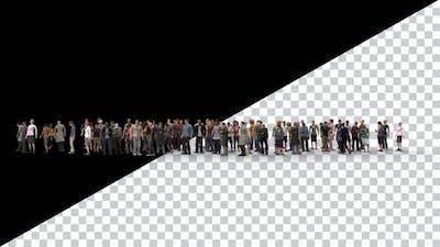 Idle Waiting Crowd