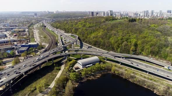 Thumbnail for City Traffic on the Bridge and Highway
