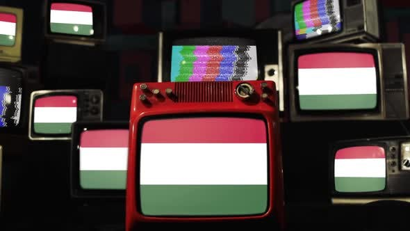 Thumbnail for Flags of Hungary and Vintage TVs.