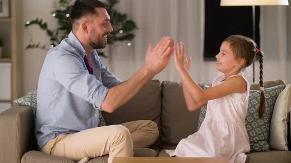 Thumbnail for Father and Daughter Playing Clapping Game at Home