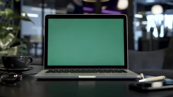 Thumbnail for Laptop With Green Screen Desktop No Movement