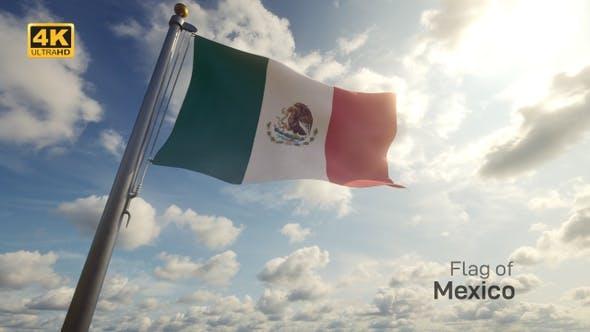 Mexico Flag / Mexican Flag on a Flagpole - 4K