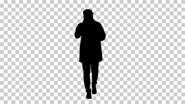 Silhouette  man light , Alpha Channel