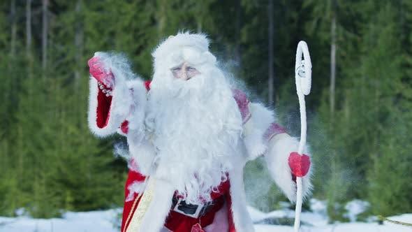 Thumbnail for Santa Claus spreading star dust