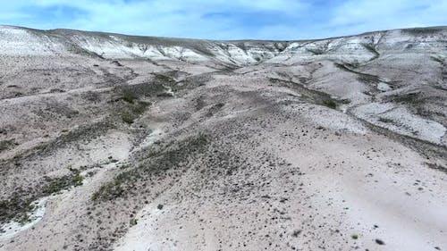 Limestone Mesa Hill Topography on Plain in Arid Barren Geography