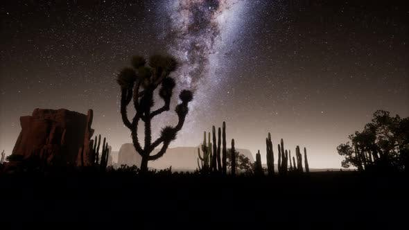Thumbnail for Hyperlapse in Death Valley National Park Desert Moonlit Under Galaxy Stars