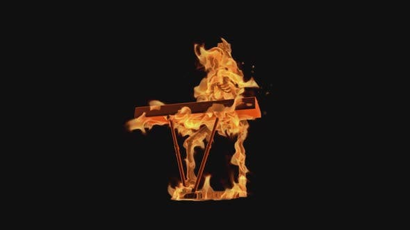 Burning Skeleton - Play Electric Piano