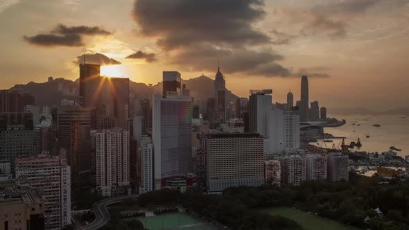 Thumbnail for Timelapse of Evening Coming To Hong Kong