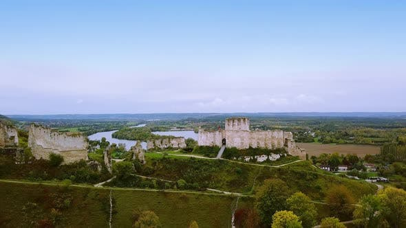 Thumbnail for Aerial Drone. Chateau Gaillard Castle, Les Andelys, Normandy, France