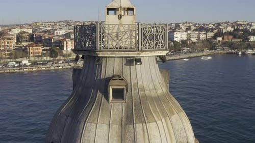 Istanbul Maidens Tower Aerial View