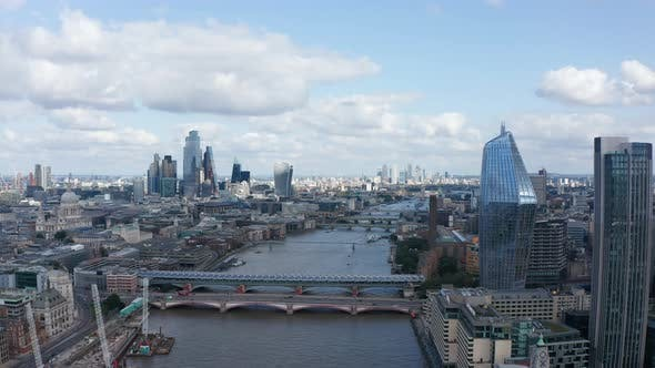 Forwards Fly Above River Thames