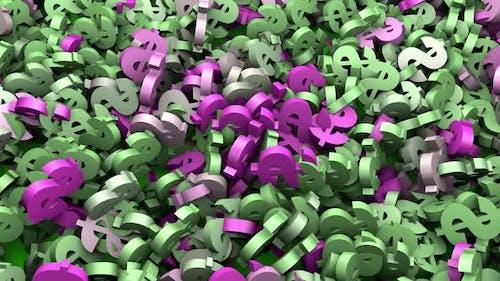 Moving dollar symbol animation