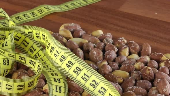 Thumbnail for Roasted Salted Peanut Nutrition With Tape Measure Rotating