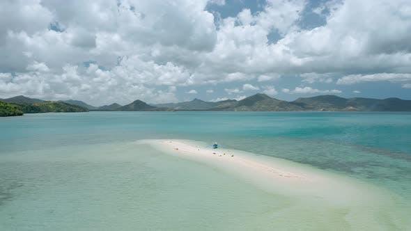 Thumbnail for Aerial Drone Footage Circling a Sandbar Form Distance