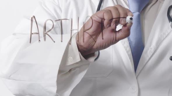 Asian Doctor Writing Arthritis