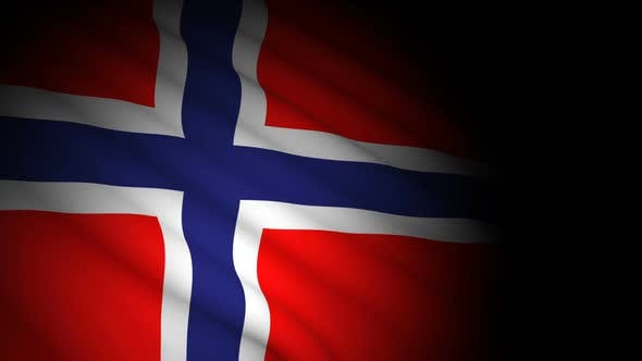 Thumbnail for Norway Flag Blowing in Wind