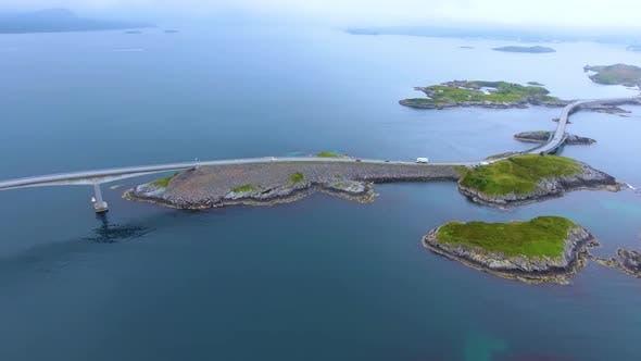 Thumbnail for Atlantic Ocean Road Aerial Norway