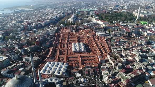 Cover Image for Grand Bazaar Roofs Istanbul Aerial View