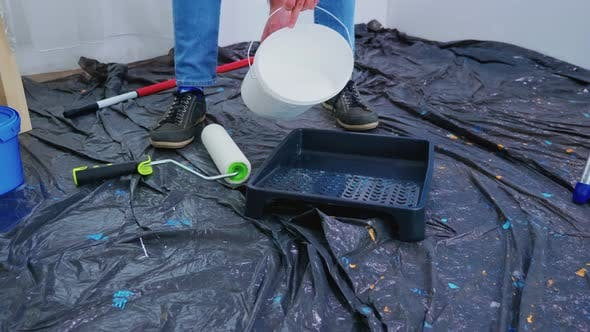 Thumbnail for Pouring White Paint