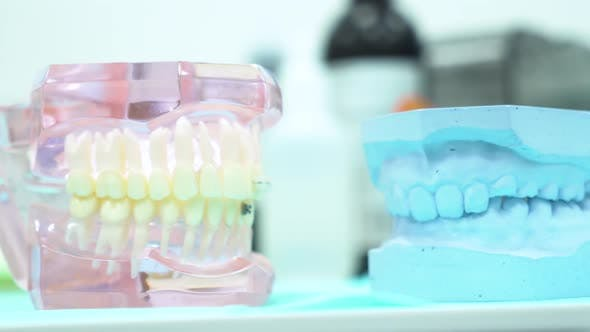 Thumbnail for Close Up For The False Jaw At The Dentist Office