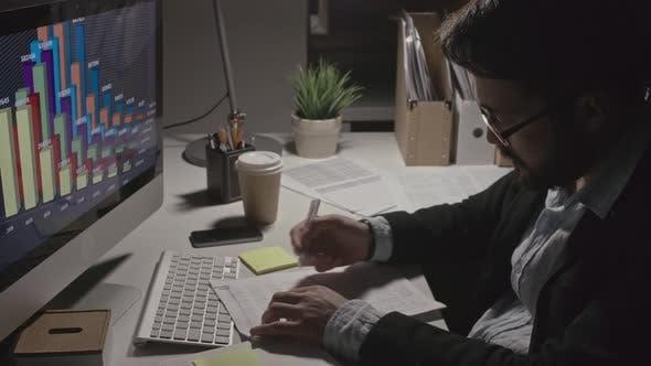 Thumbnail for Man Preparing Financial Plan