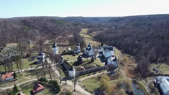 Thumbnail for Krehiv Monastery Aerial View Drone, Ukraine