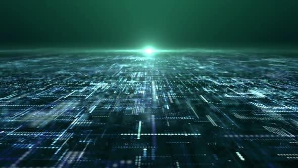 Thumbnail for Futuristic Digital Abstract Matrix Particles Grid 03