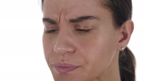 Sick Latin Girl Coughing