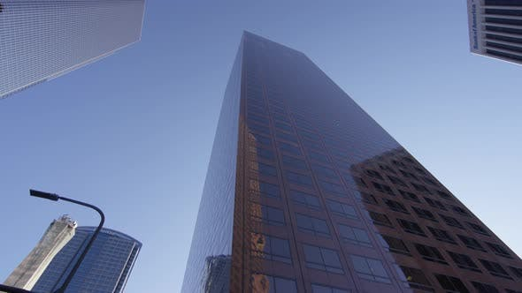 Thumbnail for Low angle view of a skyscraper, Los Angeles