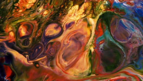 Thumbnail for Abstract Art Ink Paint Spread Explode Background 13