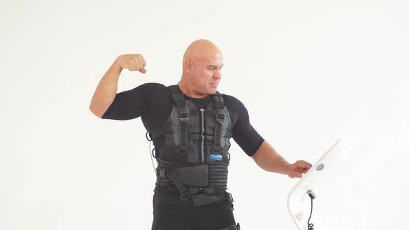 Thumbnail for Positive Fit Man Showing His Muscles