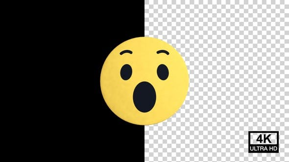 Wow Facebook Reaction Emoji 4K