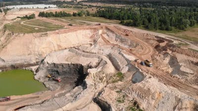 Sand and clay quarry