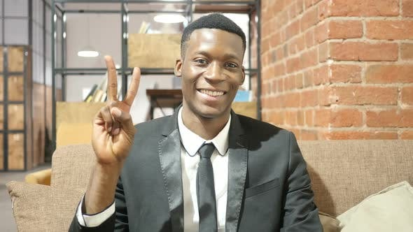 Thumbnail for Black Businessman Showing Victory Sign