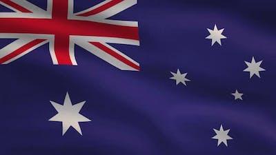 Australia Windy Flag Background 4K