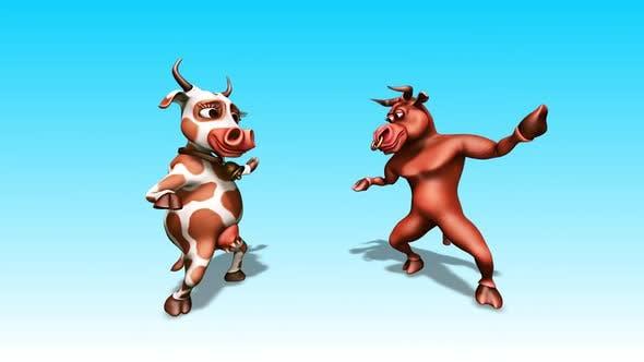 Thumbnail for Bull and Cow - Fun Cartoon Dance 5