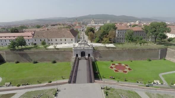 Aerial view of the Alba Iulia citadel